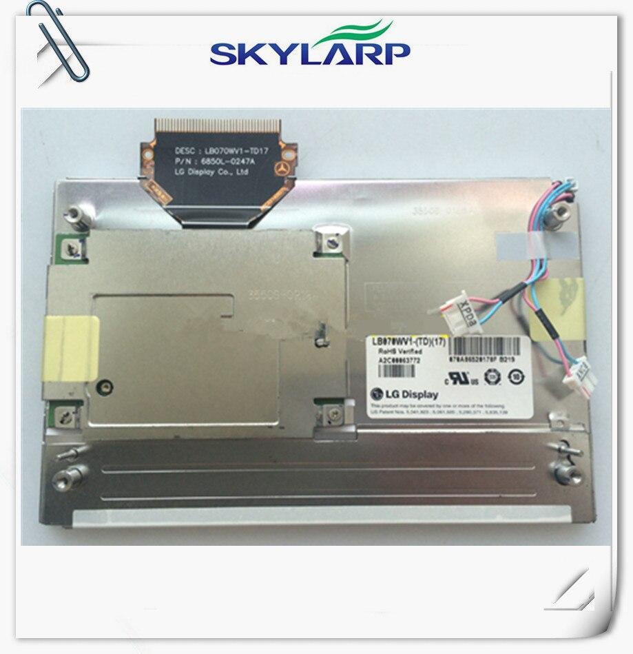 ФОТО Original 7.0 inch LCD LB070WV1(TD)(17) LB070WV1 for Car GPS navigation LCD display screen panel Free shipping