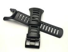 Купить с кэшбэком For SUUNTO Ambit 1 2 2R 2S 24mm Men Watch's Waterproof Rubber Strap Watchband Steel Black Buckle With Screwdriver