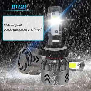 Image 4 - H4 H7 LED מכונית אור נורות עם COB שבב רכב פנס LED מיני אור מכוניות הנורה H1 9006 hb4 hb3 9005 H11 אוטומטי מנורת H7 נוריות H4 H11