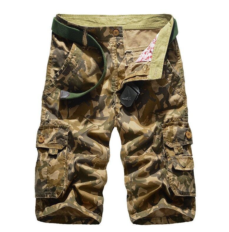 ZOEQO мужские бриджи, бермуды masculina de marca мужские повседневные мужские шорты Карго Camo карго шорты, военный камуфляж шорты - Цвет: khaki