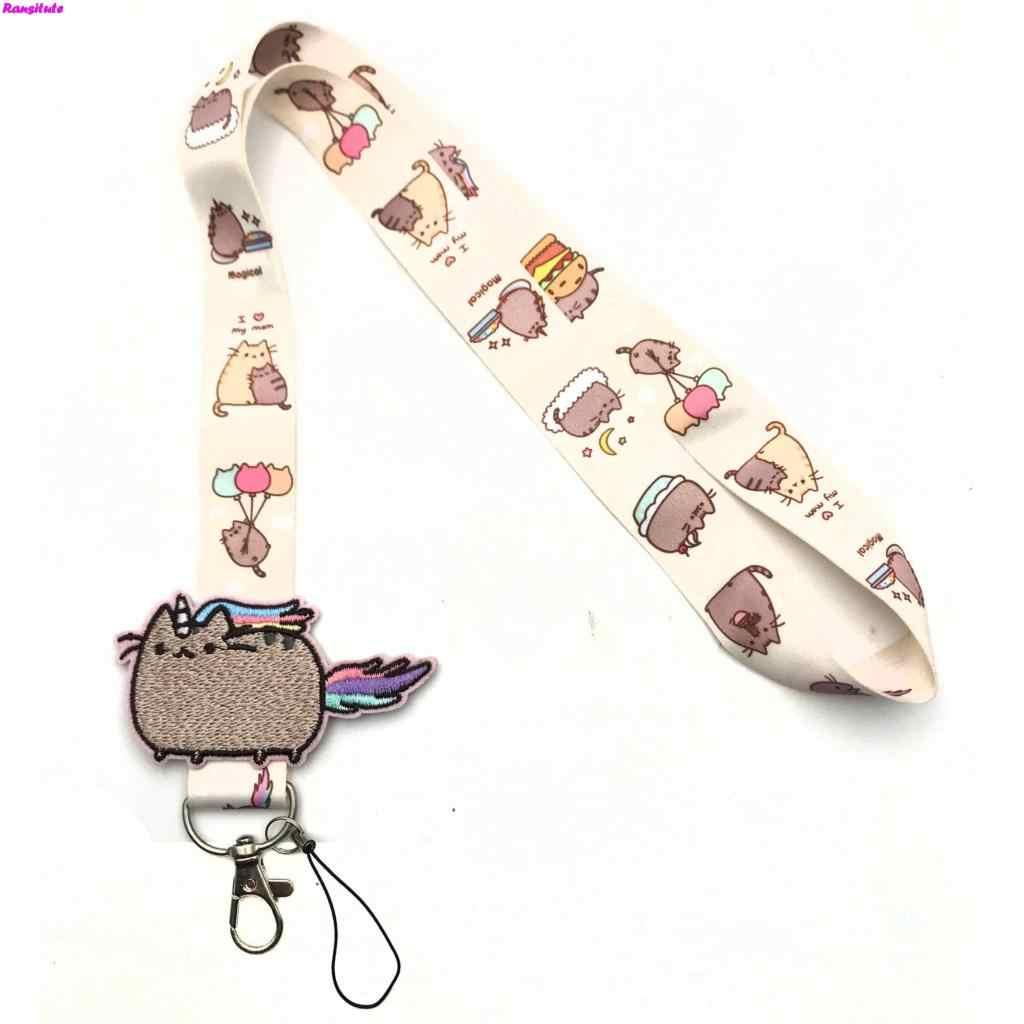 R156 Piccolo Fiore Decalcomanie Chiave Della Cordicella Id Badge Holder Animal Phone Neck Strap con L'anello Chiave