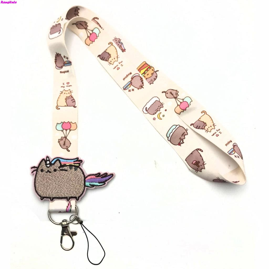 Image 5 - R156 Small flower decals key lanyard ID badge holder animal phone neck strap with key ring-in Mobile Phone Straps from Cellphones & Telecommunications