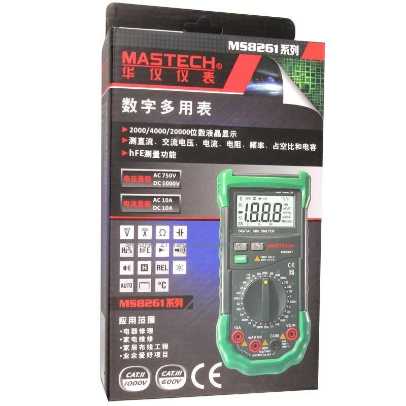 Catyrre Multim/ètre num/érique ZT302 Auto Range Voltm/ètre Testeur de temp/érature Capacit/é