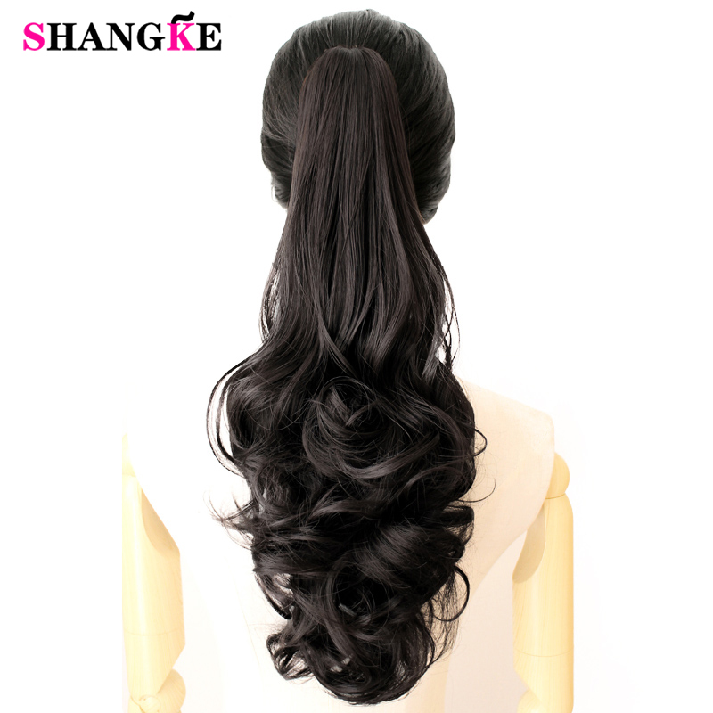 Long Wavy Synthetic Claw Clip Ponytail 24