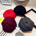 Fashion Children Winter Vintage British Wool Newsboy Cap Artist Bud Beret Pumpkin Hat Parents&kids Popular Beret Hats