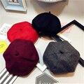 Fashion Children Winter Vintage British Wool Newsboy Cap Artist Bud Beret Pumpkin Hat Parents&kids Popular Beret Hats