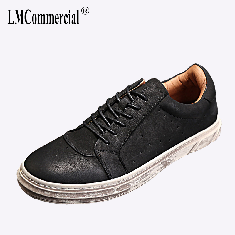 Genuine Leather men's shoes spring and autumn summer breathable breathable sneaker fashion  men casual shoes all-match cowhide 2017 new spring imported leather men s shoes white eather shoes breathable sneaker fashion men casual shoes