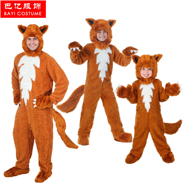Bayi hot The Lovely foxes take Halloween Costume Adult Children cosplay costume for carnival party top quality