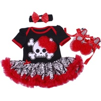 Infant Clothes My First Halloween Clothing 3PCs/set Baby Girls Outfits Tutu Dress Jumpsuit+Headband+Shoes Bebe Festival Costumes