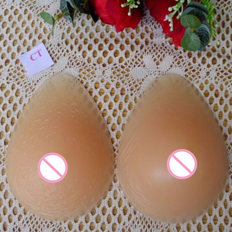 Buy Top 100% Medical Silicone Breast Forms False Artificial Boobs Soft Comfortable Prosthesis Fake Boobs Free Shipping