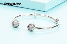 Лето 2017 г. collction открыть серебряные браслеты Fit 925 серебро Подвески из бисера браслет DIY прекрасно jewyuer Jewelry YSZ039