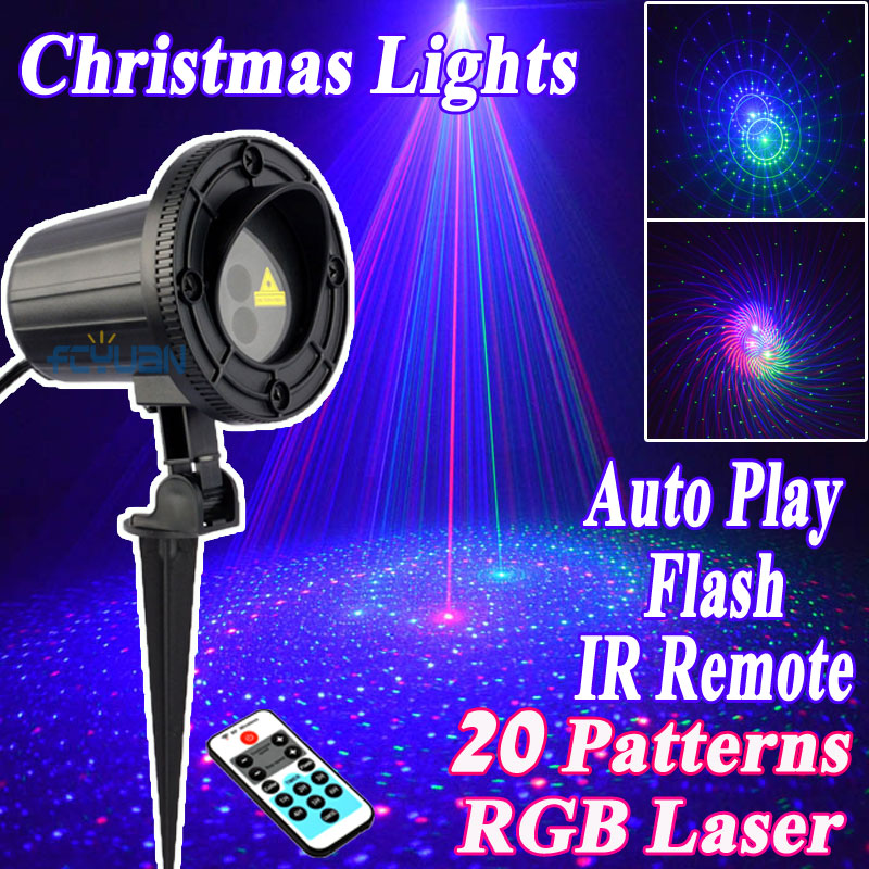 Здесь продается  2017 Star Products Outdoor Christmas Laser Projector Lights Showers Decorations For Home 20 Pattern RGB Motion With IR Remote  Свет и освещение