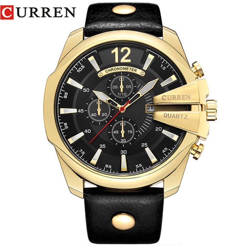 Curren Watch Military Watches Men Gold Army Sport Waterproof Curren Watches Men Rreloj Hombre Wristwatch Mens With Leather Band