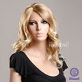 2015 Blonde hair wigs for women/ medium long wigs synthtic 100% Kanekalon wigs online real looking hair wigs