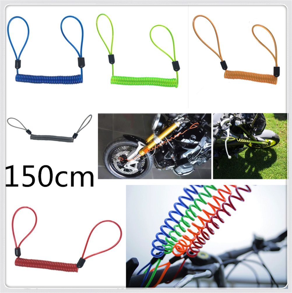 150cm Motorcycle Burglar Alarm Reminder Rope Spring Pull Wire For Ducati MTS1100 S PAUL SMART LE S2R 1000 SPORT 1000