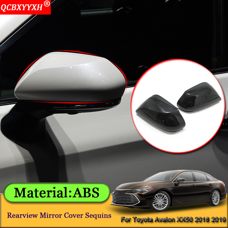 Car Styling ABS Car External Rearview Mirror Cover Sequins Auto Stickers Decoration Accessories For Toyota Avalon