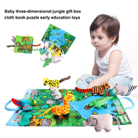 Jungle Of Cloth Baby Cloth Book Toy Book Voice Cloth Jungle Animals Hobby Animals Painting Receive Fun Education Kids Products