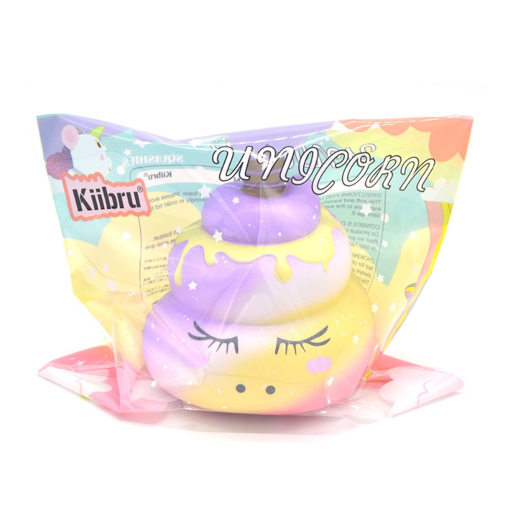 Oyuncaklar ve Hobi Ürünleri'ten Mutfak Oyuncakları'de 12 ADET Kiibru Sevimli Unicorn Poo Squishies Yavaş Yükselen Kokulu Squishy Karikatür Ekmek Bebek Çocuk Hediye Komik Oyuncaklar Toptan Dekorasy'da  Grup 2