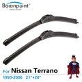 """Limpadores de carro para Nissan Terrano 1993-2006 21 """"+ 20"""", pacote de 2 Lâminas, Limpadores de alta Performance Plana"""