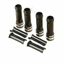 цена на Black Pushrod Tube Covers Lower For Harley Twin Cam Softail Dyna Aluminum 1999-2017