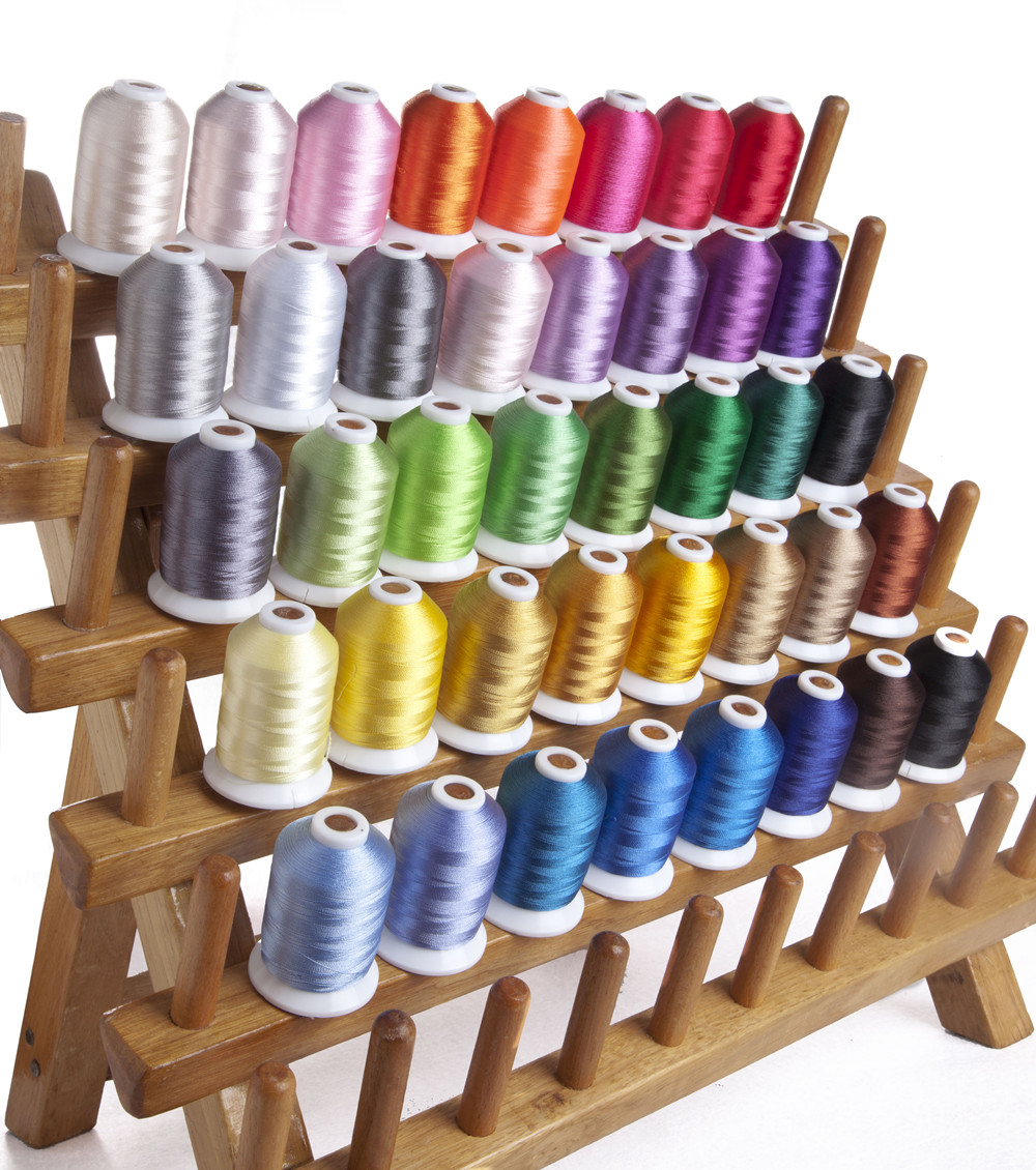 New 40 Brother Colors Computer Machine Embroidery Thread Filament Polyester 100 Trilobal Polyester 1000m 40 120d