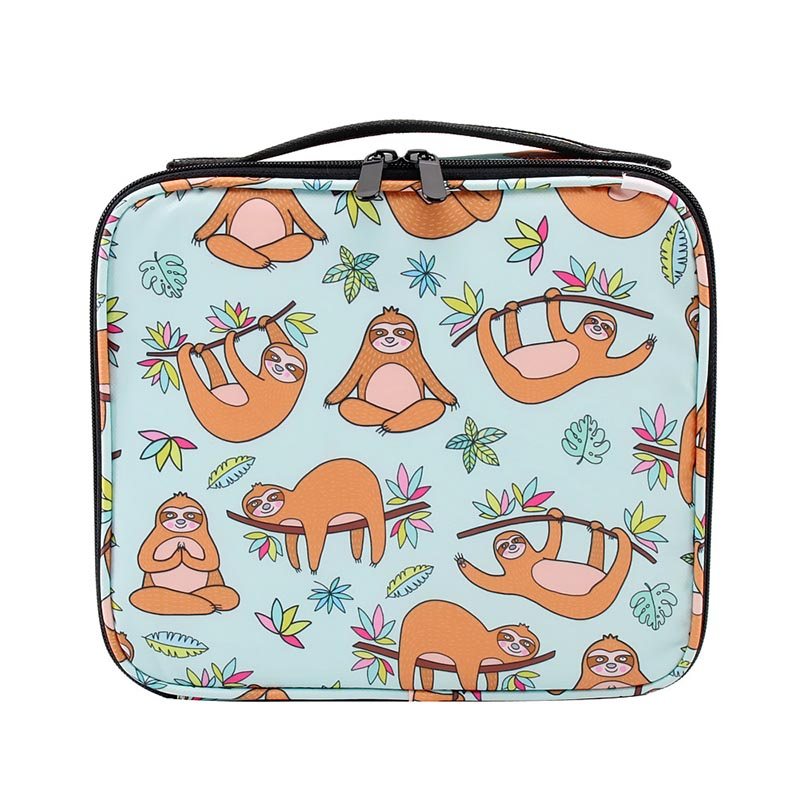 Fashion Cosmetic Bags Cases New Makeup Bag Heat Transfer Printing Women Travel Cosmetic Organizer Bag With Adjustable Divider
