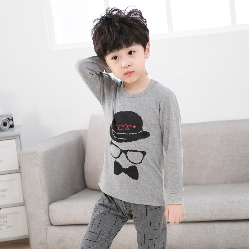 Big Boys Girls   Pajamas     Sets   100% Cotton Sleepwear 2pcs Tshirt+Pant Nightwear   Pajamas   For Children Pyjamas Kids Clothing   Set   Baby