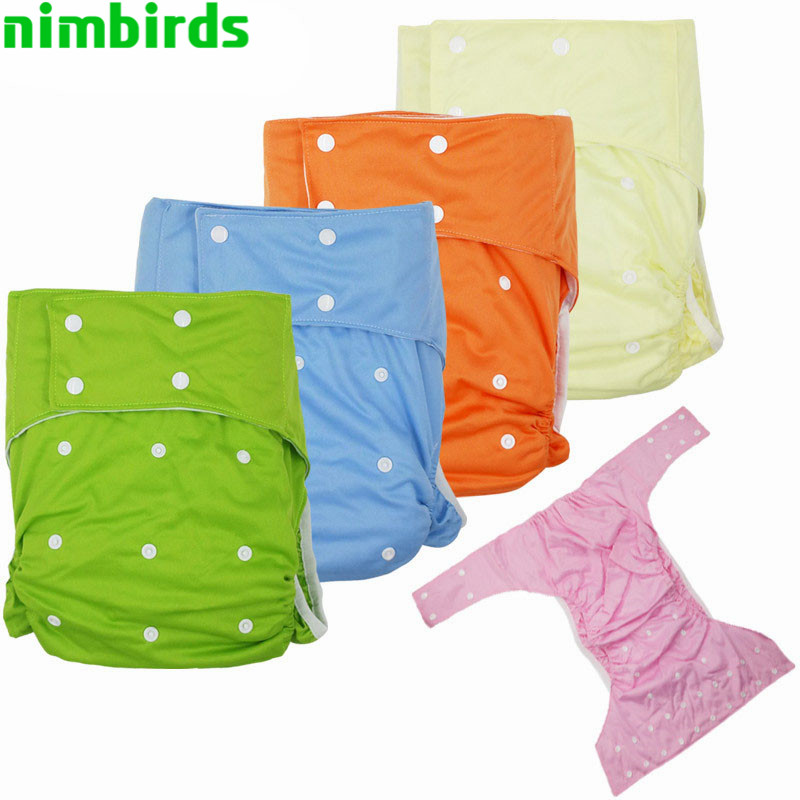 Washable Adult Cloth Diaper  Suede Inner Incontinence Pants Waterproof Reusable Children Nappy Diaper For The Disabled Person