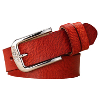 Retail 2015 New Fashion Pin Agio Mosaic Rhinestone Genuine Leather Belts For Women Color Red Available