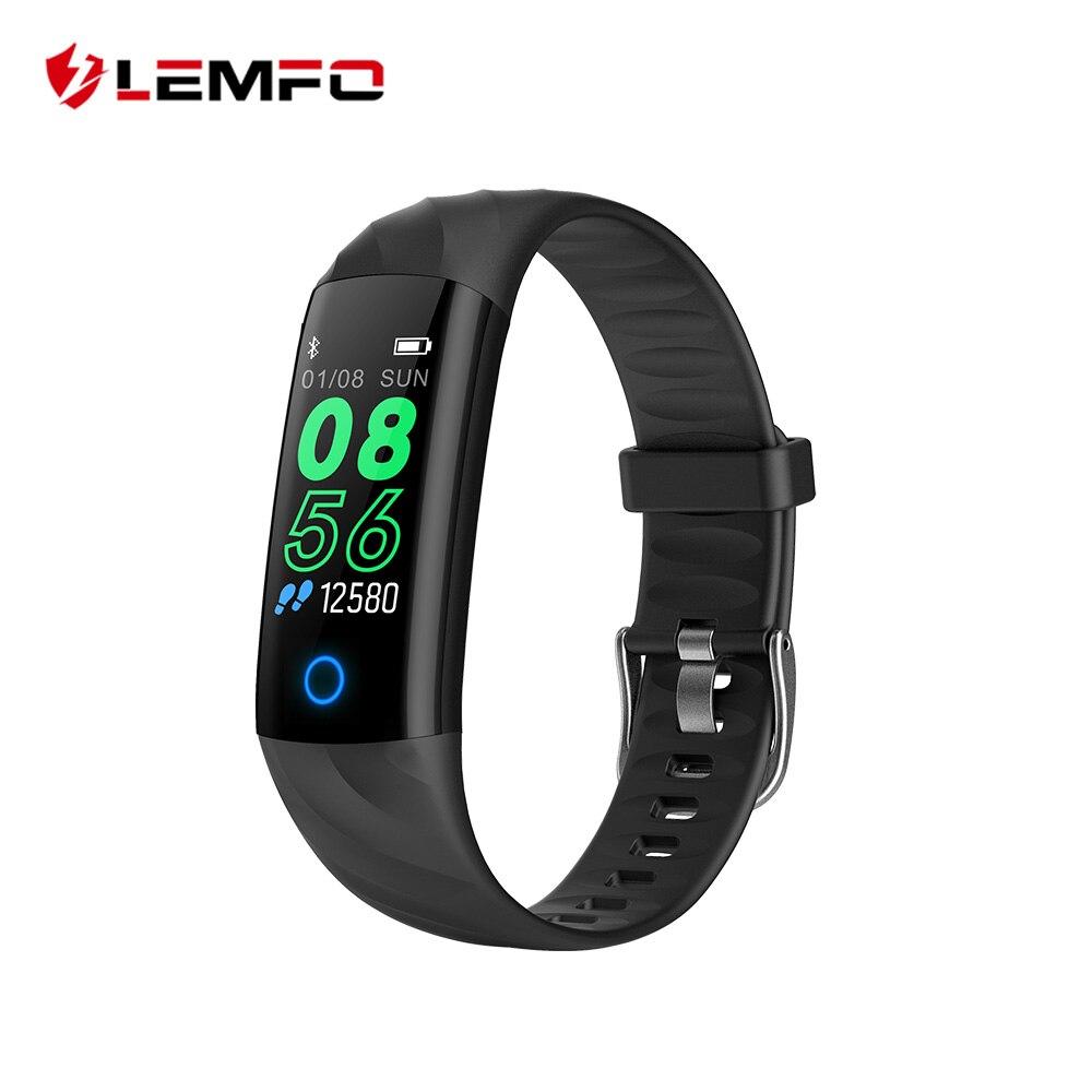 LEMFO deporte pulsera inteligente IP68 Color impermeable inteligente de pantalla banda de presión arterial podómetro rastreador de actividad