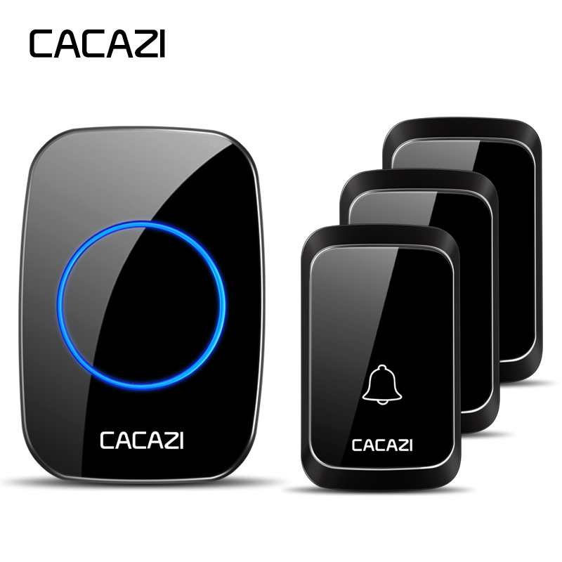 CACAZI Wireless Waterproof Doorbell DC battery-operated 3 Button x 1 Receiver 36 chimes 300M Remote Cordless Smart DoorbellCACAZI Wireless Waterproof Doorbell DC battery-operated 3 Button x 1 Receiver 36 chimes 300M Remote Cordless Smart Doorbell