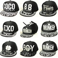 Unisex Boys Girls Adjustable Hip-Hop Street Dance Cool Snapback Cap Kids Children Sports Baseball Hats