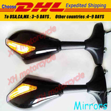 motorcycle partsBlue LED Mirrors for   GSXR 600 750 1000 Hayabusa GSF SV650S Katana TL1000R