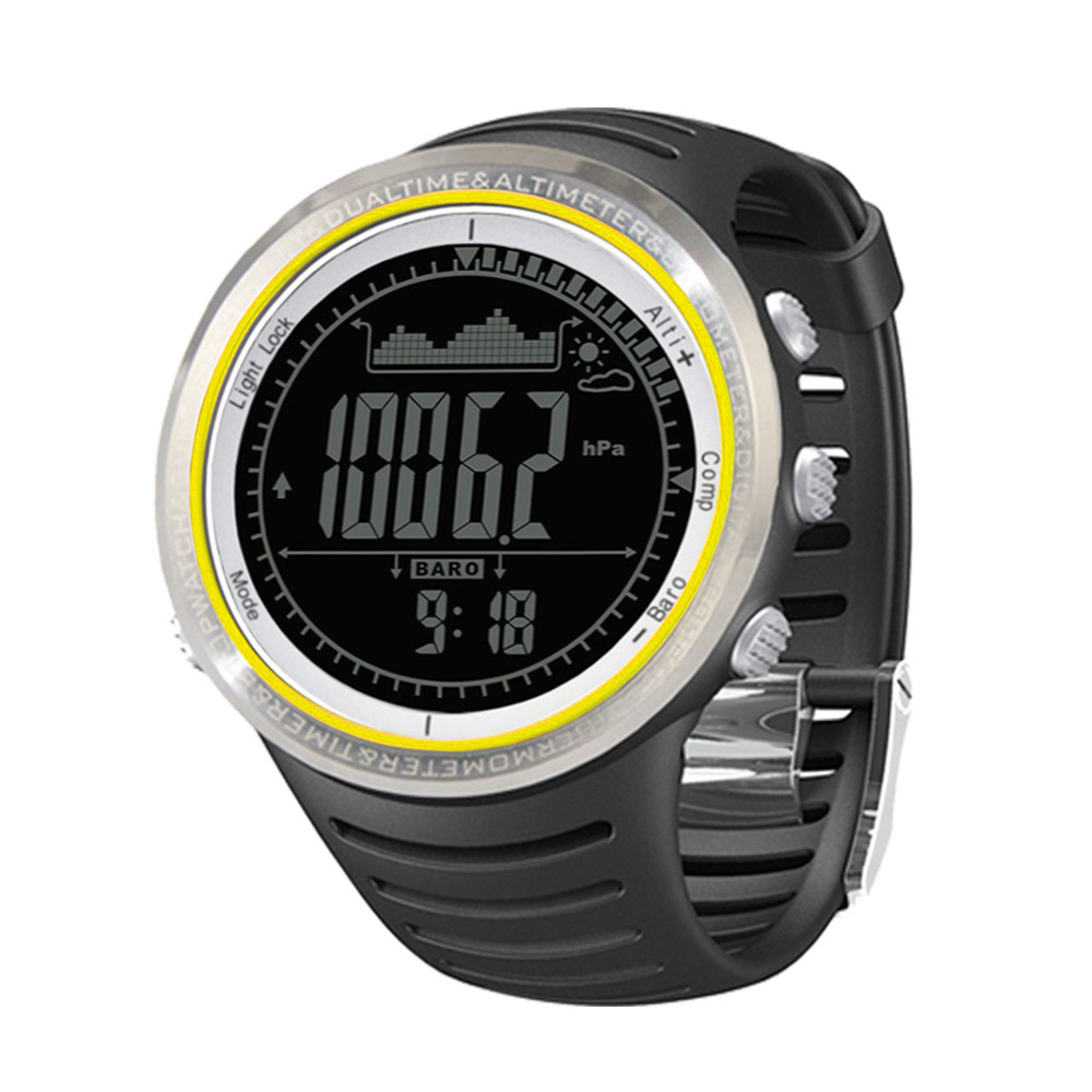 Pedometer Fishing Barometer Outdoor Multifunction Sports Watch FR802A FR802B 5ATM Waterproof Altimeter Compass Stopwatch
