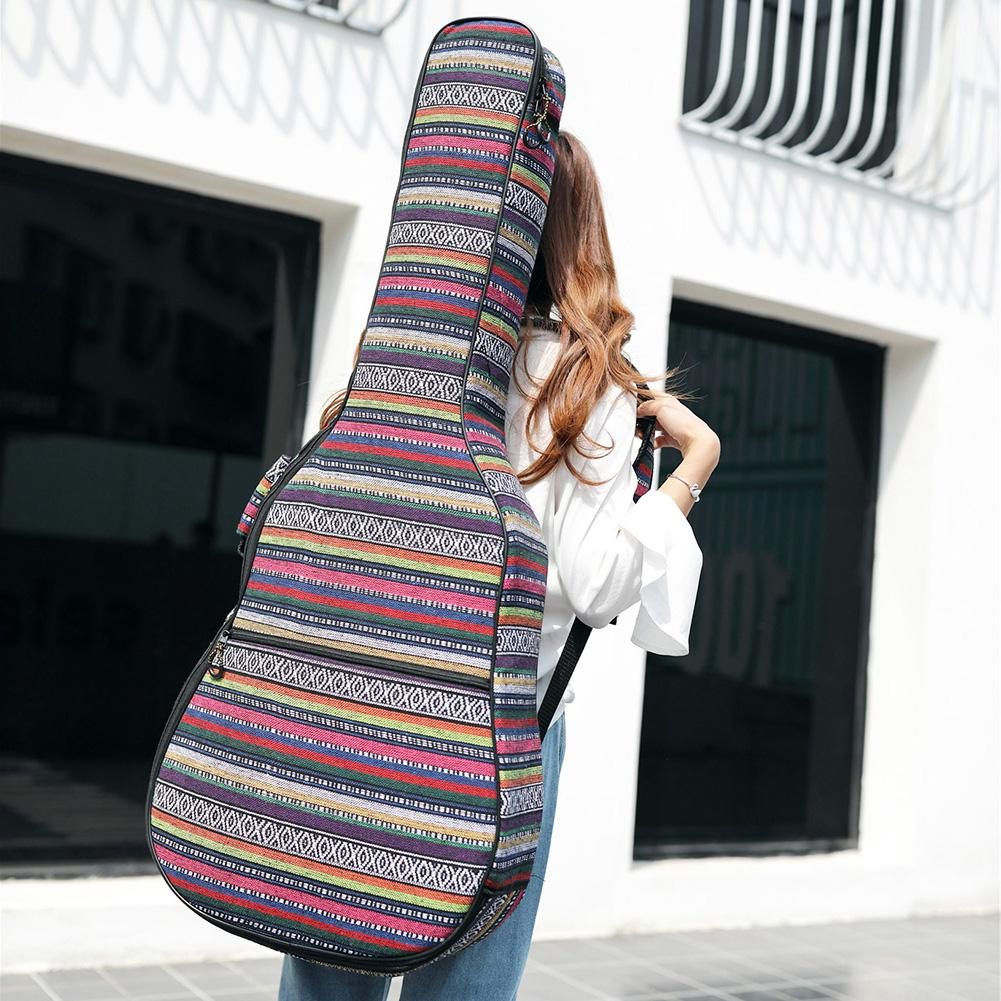 Longteam Ethnic Knitting Style 40 Inch / 41 Inch Guitar Bag Waterproof Acoustic Electric Guitar Carry Case Backpack shoulders thickening ballad guitar bag wooden guitar backpack 41 inch waterproof guitar electric bass bag electric guitar bag