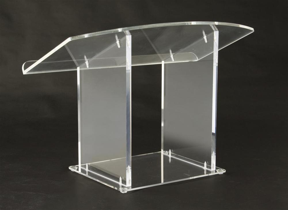 Acrylic Pulpit Tabletop Lectern Clear Plexiglas Podium (LCTDSKKDAC) Plexiglass