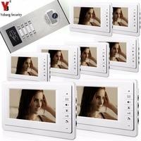 Yobangsecurity домашний безопасности, видео телефон двери Системы 7 дюймовый дверной Видеозвонок дверное переговорное устройство доступа RFID Упра