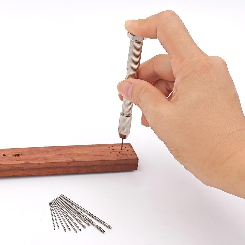 Mini Micro Aluminium Handboor Met Snelspanboorhouder + 50st Hoge - Boor - Foto 6
