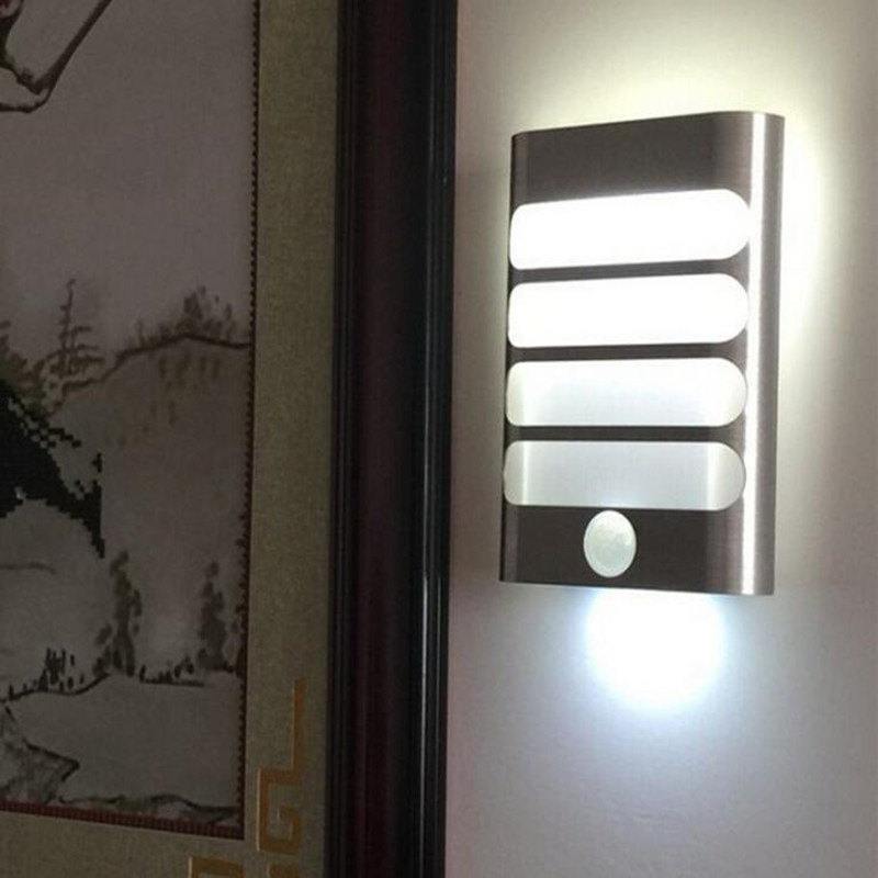 2 pcs / lot Led PIR Motion Sensor Night Light Smart Creative Wall Lights For Fence Garden Corridor Warm / White light Available 1x led night light lamps motion sensor nightlight pir intelligent led human body motion induction lamp energy saving lighting