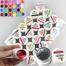 UV Gel Gelpolish Paint For Nails Color Set Bling Art Nails French Pure Polish 24jar Soak