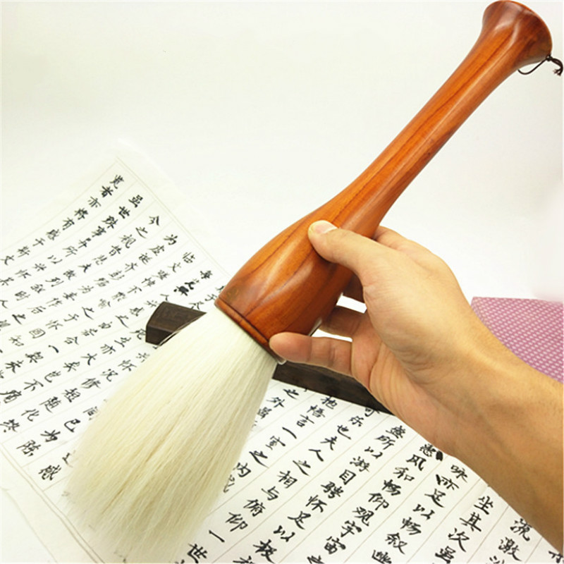 Soft Woolen Hair Chinese Calligraphy Brush Pen Chinese Painting Brush Ink Painting Spring Festival Couplets Hopper-shaped BrushSoft Woolen Hair Chinese Calligraphy Brush Pen Chinese Painting Brush Ink Painting Spring Festival Couplets Hopper-shaped Brush