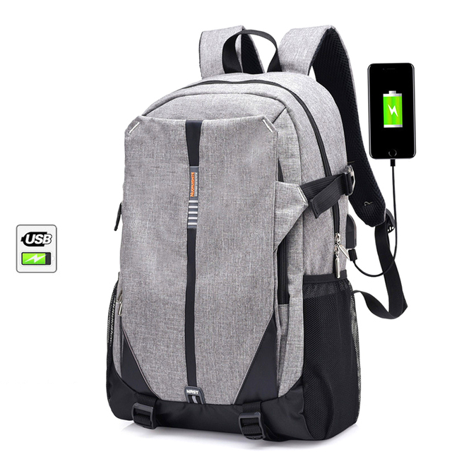 2018 Brand Canvas Men Backpack Cool High School Bags For Age Book Bag Boys S Usb