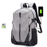 Teen Canvas Men Backpack Cool High School Bags For Teenage Book Bag Boys Girls USB Schoolbag