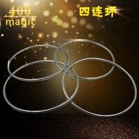 1 conjunto de estágio profissional quatro-diâmetro 30.5 cm anel magnético anel mágico adereços tubo oco 400 truque de mágica