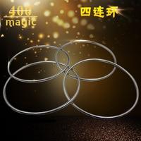 1 zestaw z etap profesjonalne cztery pierścień magiczne rekwizyty pustej rury o średnicy 30.5 cm pierścień magnetyczny 400 magiczna sztuczka