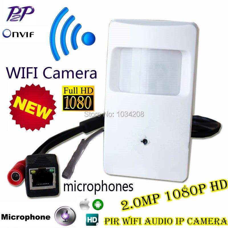 Vidéo Surveillance Pir Style 2.0 MP Caméra Ip Wifi Pin trou Objectif H.264 Onvif 1080 P Sans Fil Wifi Ip Caméra Réseau Microphone