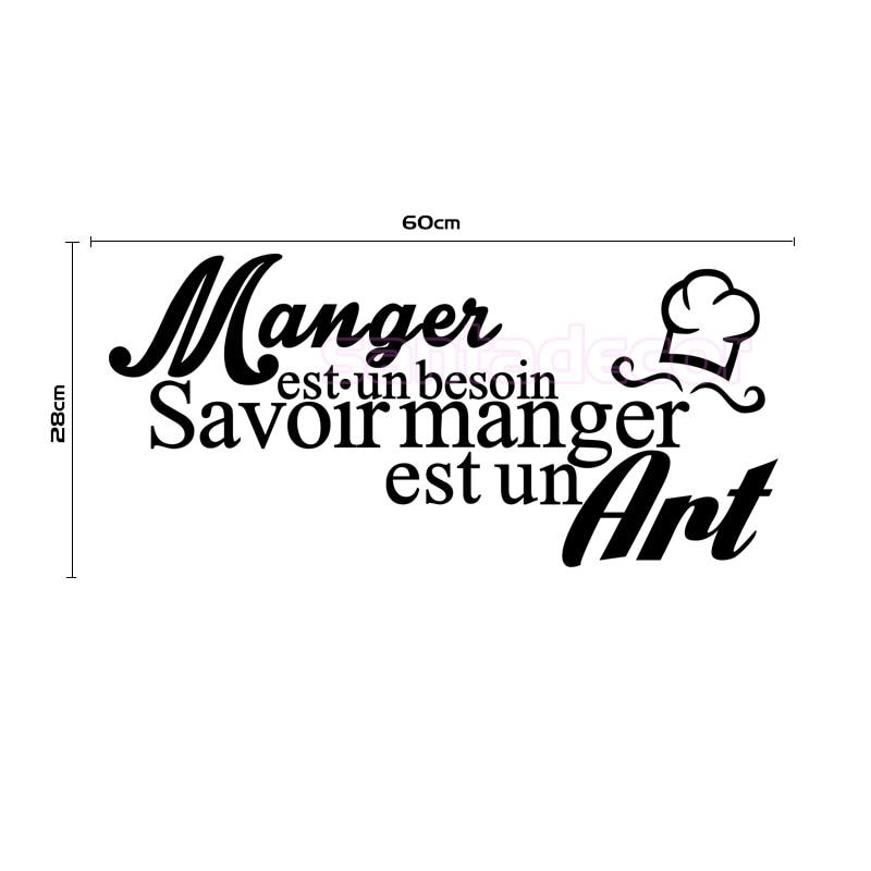 online shop vinyl wall sticker-citation-cuisine-manger-est-un