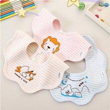 AJLONGER Baby Bibs Waterproof Baby Aprons Bib infant saliva towels cute cartoon bib slabbetjes baberos bebe Bibs saliva towel