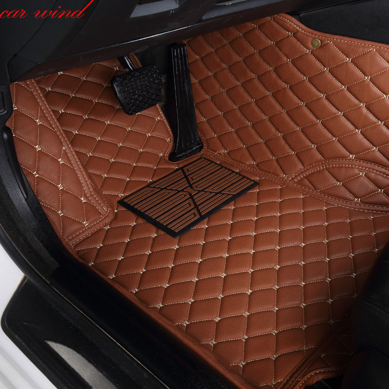 Car wind Leather Auto car floor Foot mat For geely emgrand ec7 car accessories waterproof carpet rugs styling