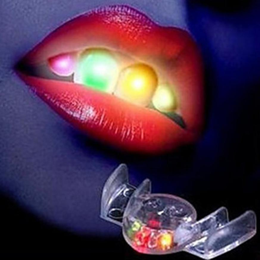 Home Open-Minded Menow Newly Led Light Up Flashing Mouth Piece Glow Teeth For Party Halloween Glowing Funny Denture Rave Event Decoration 08.13 A Wide Selection Of Colours And Designs